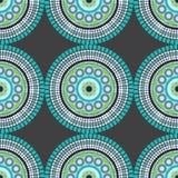 Mandala Fabric Pattern Design sans couture Images libres de droits