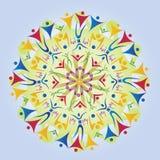Mandala feita de ícones/silhuetas do corpo ilustração do vetor