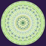 Mandala fine verde del mosaico per energia e potere che ottengono mandala per addestramento di meditazione royalty illustrazione gratis