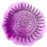 Mandala fiołek Zdjęcia Stock