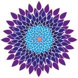 Mandala-fiore Fotografie Stock