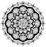 Mandala of Fire and Wood. On a white background Royalty Free Stock Images