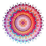 Mandala fleuri de dentelle ronde arabe décorative Photos libres de droits