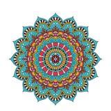 Mandala fleuri de dentelle ronde arabe décorative Photo stock