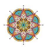 Mandala fleuri de dentelle ronde arabe décorative Modèle de vecteur de vintage pour la copie ou le web design Coloré abstrait illustration de vecteur