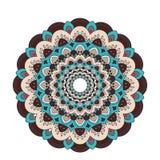 Mandala fleuri de dentelle ronde arabe décorative Modèle de vecteur de vintage pour la copie ou le web design Coloré abstrait illustration libre de droits