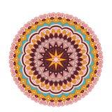 Mandala fleuri de dentelle ronde arabe décorative Modèle de vecteur de vintage pour la copie ou le web design Coloré abstrait illustration stock