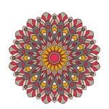 Mandala fleuri de dentelle ronde arabe décorative Modèle de vecteur de vintage pour la copie ou le web design Coloré abstrait Photo stock