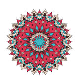 Mandala fleuri de dentelle ronde arabe décorative Modèle de vecteur de vintage pour la copie ou le web design Coloré abstrait Images libres de droits