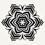 Mandala fleuri de griffonnage Photographie stock libre de droits
