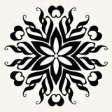Mandala fleuri de griffonnage Image stock