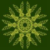 Mandala fleuri indien Modèle rond de dentelle de napperon, fond de cercle avec beaucoup de détails Photographie stock