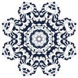 Mandala fleuri rond décoratif pour la copie ou le web design Fond abstrait de mandala Photos stock