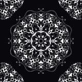 Mandala fleuri rond décoratif pour la copie ou le web design Fond abstrait de mandala Photographie stock