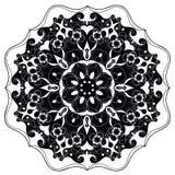 Mandala fleuri rond décoratif pour la copie ou le web design Fond abstrait de mandala Photographie stock libre de droits