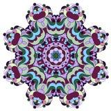 Mandala fleuri rond décoratif pour la copie ou le web design Fond coloré abstrait de mandala illustration stock