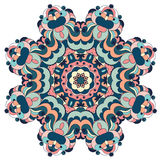 Mandala fleuri rond décoratif pour la copie ou le web design Fond coloré abstrait de mandala Photos stock