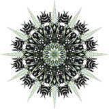 Mandala, floco de neve fotos de stock royalty free