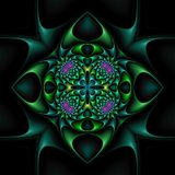 Mandala floral énervé Photos stock