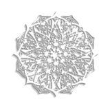 mandala Floral εθνικός αφηρημένος διακοσμητικός Στοκ Εικόνες