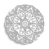mandala Floral εθνικός αφηρημένος διακοσμητικός Στοκ εικόνα με δικαίωμα ελεύθερης χρήσης