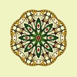 mandala Floral εθνικός αφηρημένος διακοσμητικός Στοκ Φωτογραφία