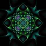 Mandala floral afilada stock de ilustración