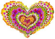 Mandala floral aislada del lheart Imágenes de archivo libres de regalías