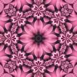 Mandala floral bastante rosada ilustración del vector