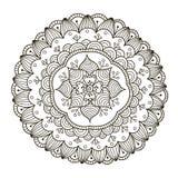 Mandala floral bonita de Deco Teste padrão redondo do ornamento do vetor Fotografia de Stock