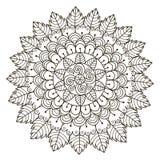 Mandala floral bonita Teste padrão redondo do ornamento do vetor ilustração royalty free