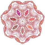 Mandala floral calidoscópico do ornamento indiano ilustração royalty free