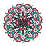 Mandala floral coloré Photo stock