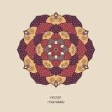 Mandala floral coloré ornemental, bagout géométrique tiré par la main Images libres de droits