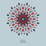 Mandala floral coloré tiré par la main Style d'oriental de vintage Indi Photo stock