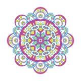Mandala floral coloreada Fotografía de archivo libre de regalías