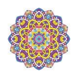 Mandala floral coloreada Fotos de archivo libres de regalías