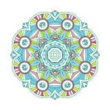 Mandala floral coloreada Imagen de archivo
