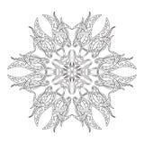 Mandala floral de coloration décorative Illustration Stock
