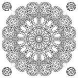 Mandala floral de la gema de la decoración Imagen de archivo libre de regalías