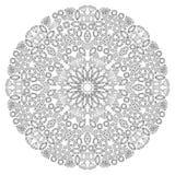 Mandala floral de la gema de la decoración Foto de archivo libre de regalías