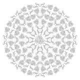 Mandala floral de las rosas de la decoración Fotos de archivo libres de regalías