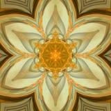 Mandala floral de tournesol de Sun Images libres de droits