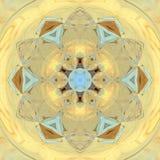 Mandala floral de tournesol de Sun Photo stock