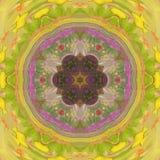 Mandala floral de tuile de tournesol de Sun Photos libres de droits