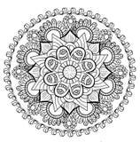 Mandala floral decorativa Fotografía de archivo