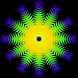 Mandala floral decorativa moderna del color stock de ilustración