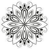 Mandala floral del vector Fotografía de archivo