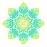 Mandala floral design element. Mandala element. Symmetric zentangle. Vector illustration. Abstract doodle background. Good for cards, invitations, presentations Royalty Free Stock Image