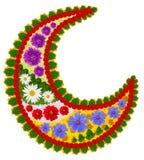 Mandala floral do budismo da meia lua Imagens de Stock